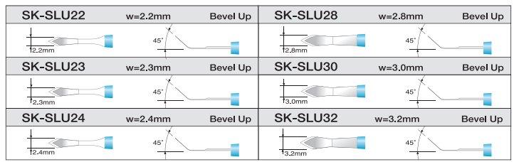 Noże do mikrochirurgii oka Slit
